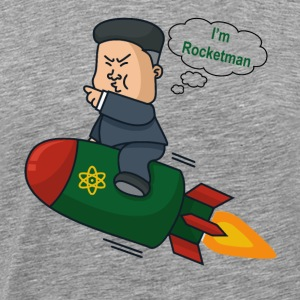 Kim Jong Un Rocketman - Men's Premium T-Shirt