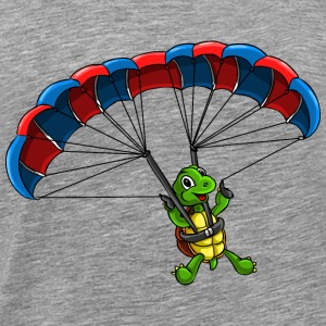 Paragliding Turtle - Men's Premium T-Shirt