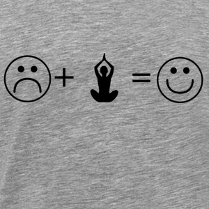 like smiley love yoga 7 - Men's Premium T-Shirt