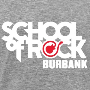 School of Rock Burbank White Logo - Men's Premium T-Shirt