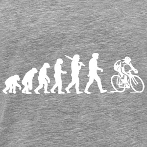 Evolution of a Cyclist Mens Black or Blue Cycling - Men's Premium T-Shirt