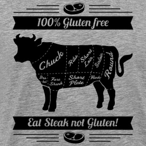 Meatlovers BBQ cow print black and white - Men's Premium T-Shirt