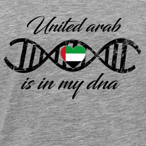 love my dns dna land country United arab emirates - Men's Premium T-Shirt