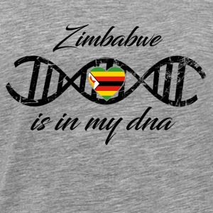 love my dns dna land country Zimbabwe - Men's Premium T-Shirt