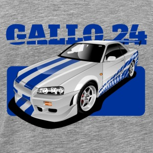 O Connor ride Nissan GTR R34 - Men's Premium T-Shirt