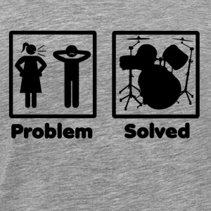 problem solved DRUMMER SCHLAGZEUG drums - Men's Premium T-Shirt