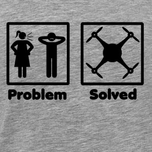 problem solved drohne drone - Men's Premium T-Shirt