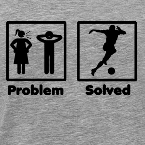 problem solved Frauenfussball soccer woman footbal - Men's Premium T-Shirt