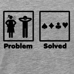 problem solved poker pokern - Men's Premium T-Shirt