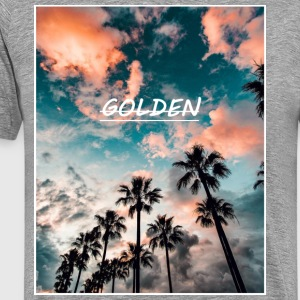 Beautiful Sky and Palm Trees - Men's Premium T-Shirt