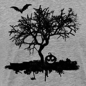Scary Vintage Bat Tree Pumpkin Halloween Costume - Men's Premium T-Shirt