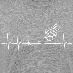 Heartbeat Track and Field cool fun gift athlete - Men's Premium T-Shirt