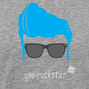 Geo Rockstar (him) - Men's Premium T-Shirt