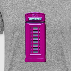 phone booth purple - Men's Premium T-Shirt