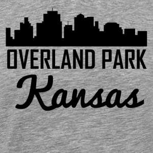 Overland Park Kansas Skyline - Men's Premium T-Shirt