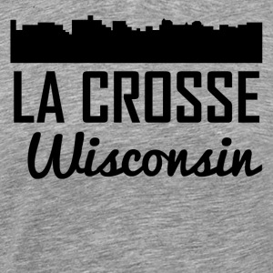 La Crosse Wisconsin Skyline - Men's Premium T-Shirt