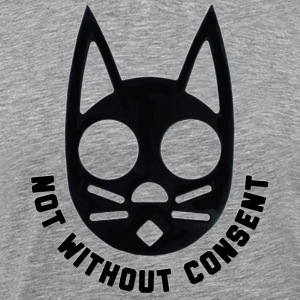 Not Without Consent (Black) - Men's Premium T-Shirt
