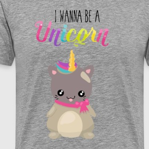 Adorable and Cute Cat Unicorn - Men's Premium T-Shirt