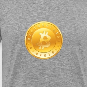 Bitcoin Coin Logo - Men's Premium T-Shirt