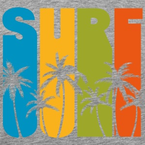 SURF PALMTREE - Men's Premium T-Shirt