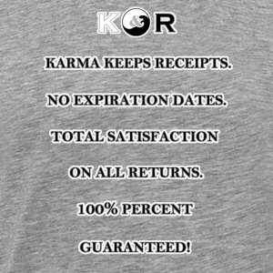 Karma Keeps Receipts - Men's Premium T-Shirt