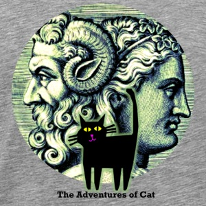 Cat Observes Janus - Men's Premium T-Shirt