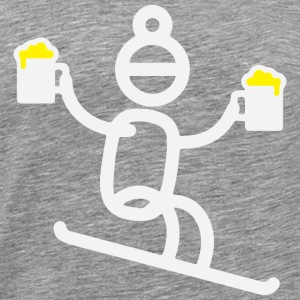 Apres Ski Stick Figure - Men's Premium T-Shirt