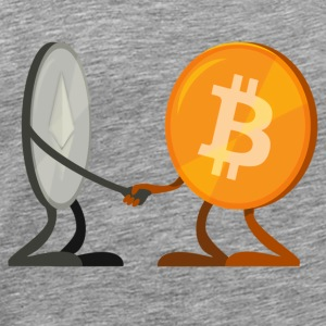 Ethereum And Bitcoin - Men's Premium T-Shirt