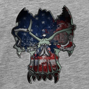 GIFT - SKULL USA FLAG - Men's Premium T-Shirt