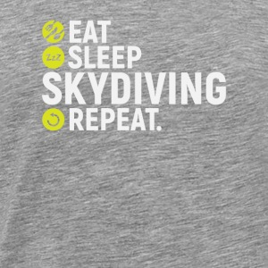 Eat, sleep, skydiving, repeat - gift - Men's Premium T-Shirt