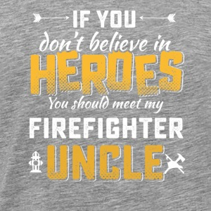 Firefighter uncle hero tshirt - Men's Premium T-Shirt