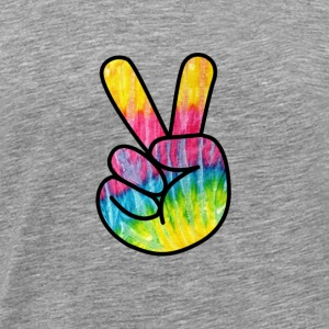 Peace Sign Hand -Psychedelic Finger T-Shirt - Men's Premium T-Shirt