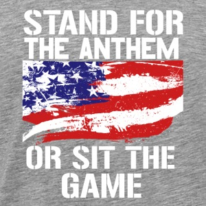 Stand up for the national anthem American flag - Men's Premium T-Shirt