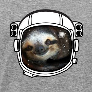 sloth helmet space sci fi astronaut nasa rocket lo - Men's Premium T-Shirt