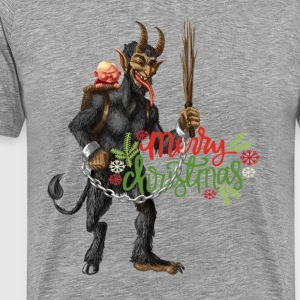 Krampus Christmas Design - Men's Premium T-Shirt