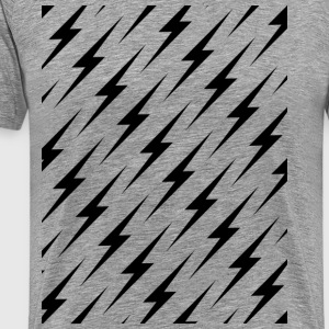 Boltz Pattern On Light - Men's Premium T-Shirt