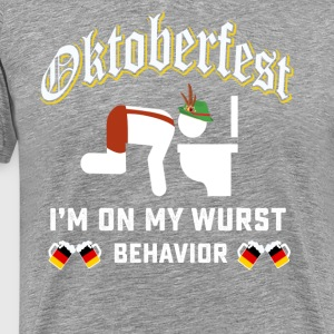 Oktoberfest wurst behavior shirt - Men's Premium T-Shirt