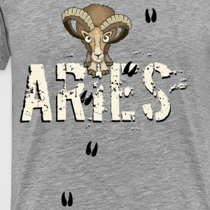 mouflon ram aries zodiac sign tracks cool gift - Men's Premium T-Shirt