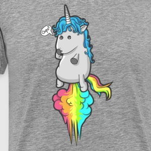 Cute Unicorn Rainbow Fart - Men's Premium T-Shirt