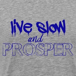 Live slow and prosper - Men's Premium T-Shirt