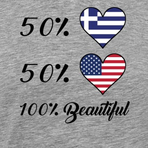 50% Greek 50% American 100% Beautiful - Men's Premium T-Shirt