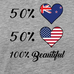 50% Kiwi 50% American 100% Beautiful - Men's Premium T-Shirt