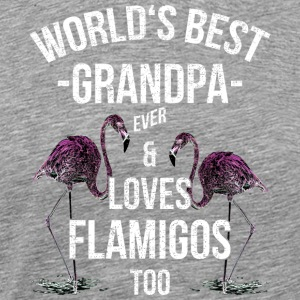 World's Best Grandpa Ever & Loves Flamingos - Men's Premium T-Shirt