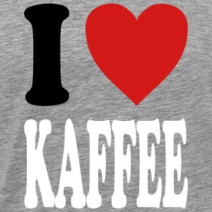 I love KAFFEE (variable colors!) - Men's Premium T-Shirt