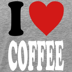 I love COFFEE (variable colors!) - Men's Premium T-Shirt