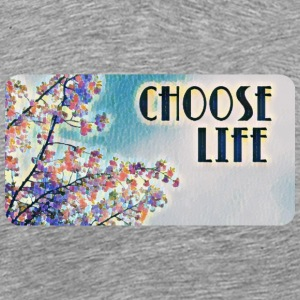 Choose Life (Cherry Blossoms) - Men's Premium T-Shirt