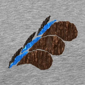 Brown Wooden Waves - Men's Premium T-Shirt