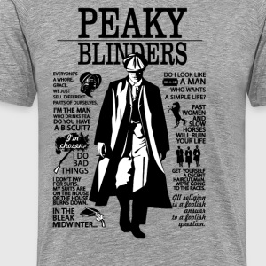 Tommy Shelby Quotes - Men's Premium T-Shirt