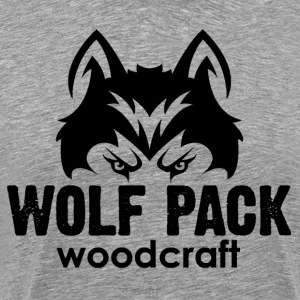 Wolf Pack Woodcraft Black Logo - Men's Premium T-Shirt
