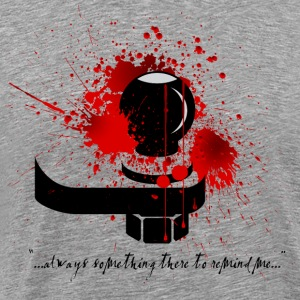 Bloody Shin Checking Hitch Light Shirt Design - Men's Premium T-Shirt